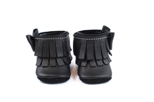Ankle Bow Boots Black