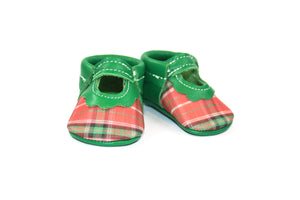 Christmas Green Bowless Mary Janes