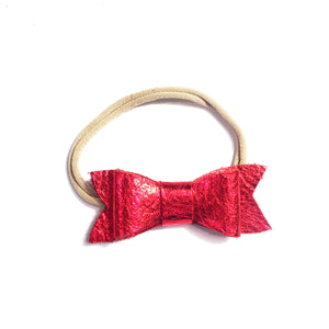 Classic Bow Red Metallic