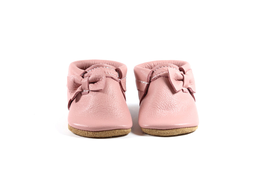 Side Bow Moccasin Light Pink