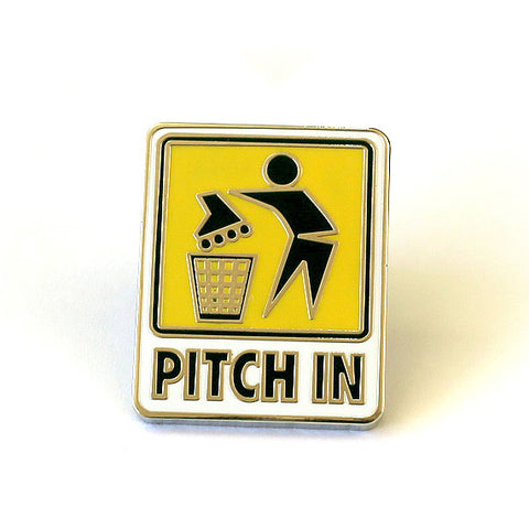Pitch In <br> Filmbot Griptape X Pindejo X Sonic Skateboards Homage pin.