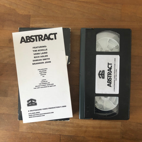 Abstract VHS SUPER RARE!!