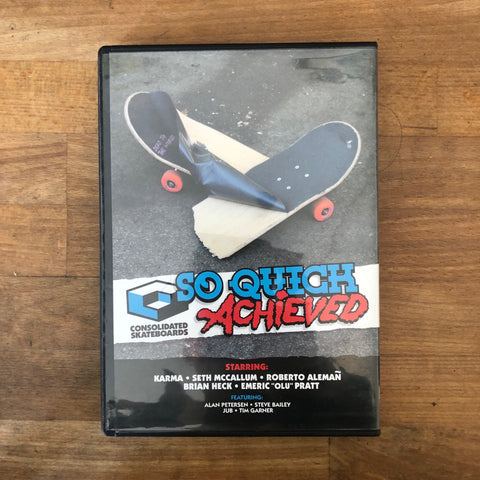 Consolidated So Quick Achived / Miles Just Another Invention - 2 Disc Set DVD