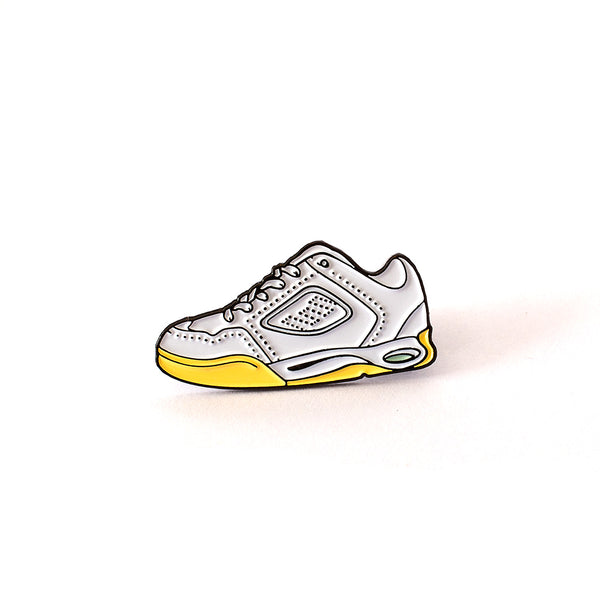 The Reynolds One Enamel Pin in White / Gum