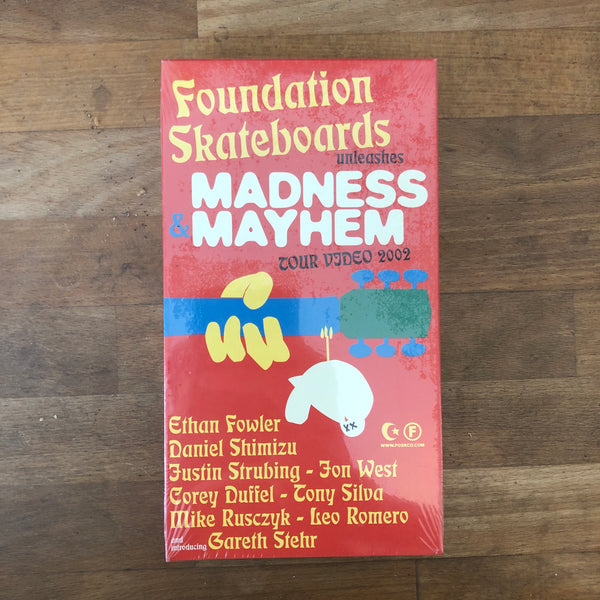 Foundation Madness Mayhem Tour Video VHS - NEW IN BOX