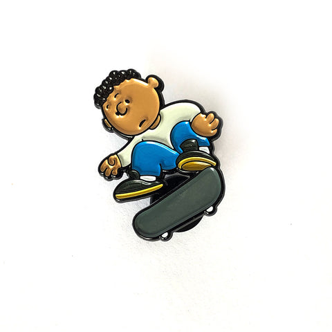 Franklin Campbell at World Park Enamel Pin