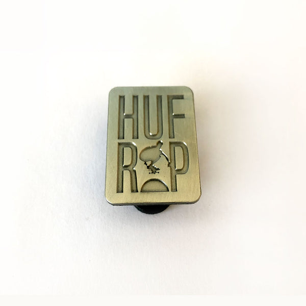 Keith Hufnagel Forever 'HUFxRIP' Enamel Pin in Antique Metal