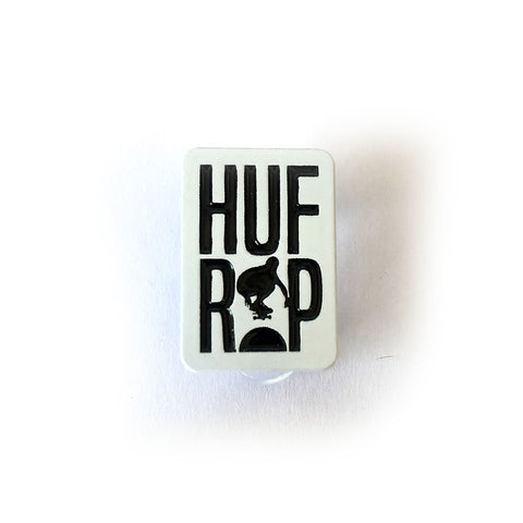 Keith Hufnagel Forever 'HUFxRIP' Enamel Pin in White