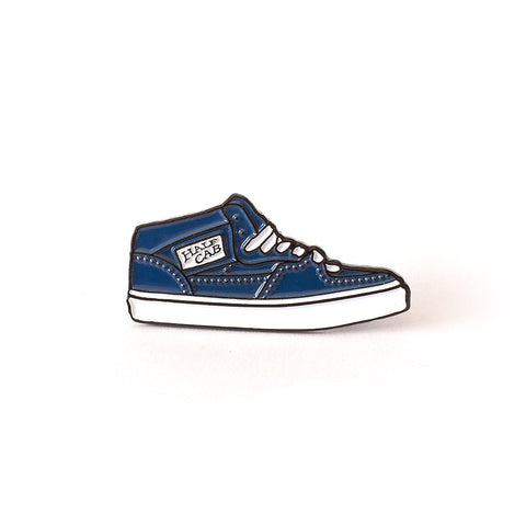 The Half Cab Shoe Enamel Pin in Navy