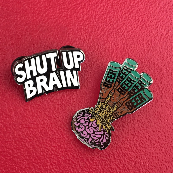Shut Up Brain BEER by Todd Bratrud