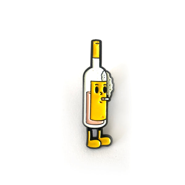 Yellow Smoking Wino by Andrew Pommier