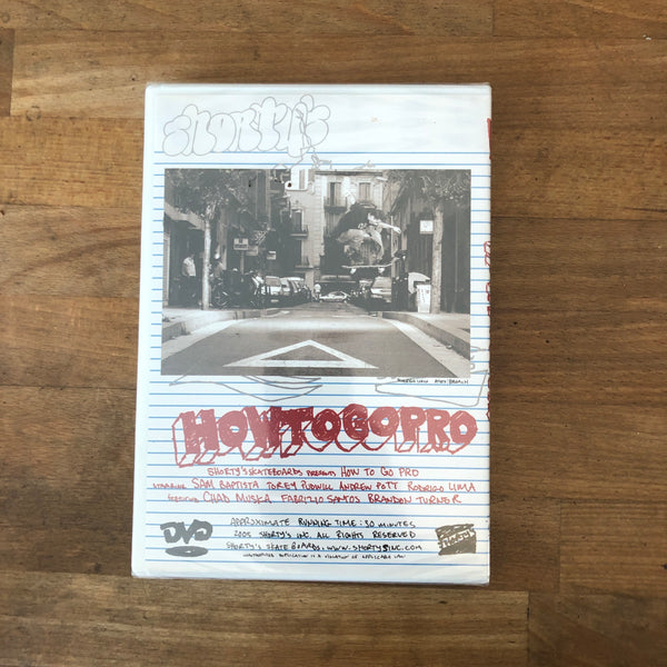 Shortys How to Go Pro DVD - NEW IN BOX