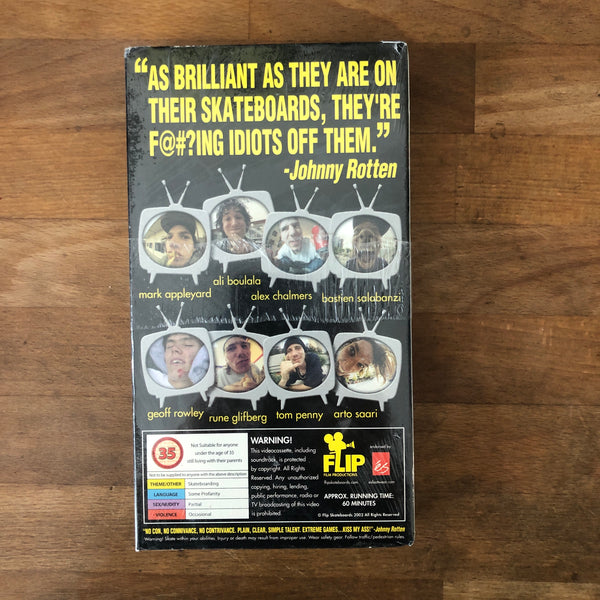 "Flip Skateboards ""Sorry"" VHS - NEW IN BOX *** RARE!!"