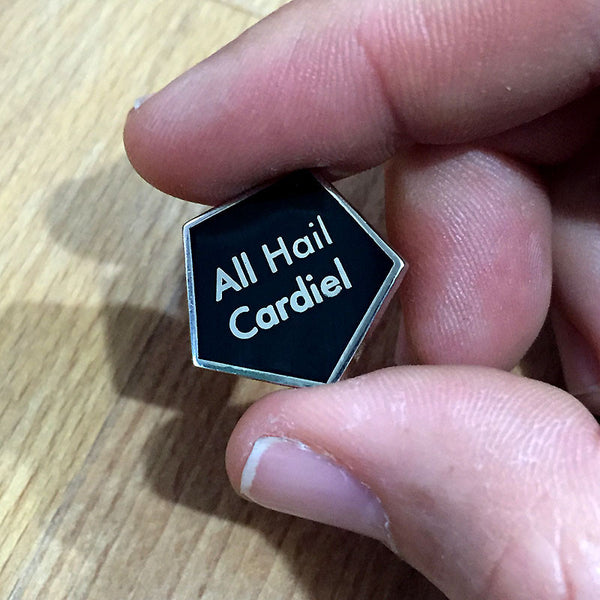 All Hail Cardiel Silver pin