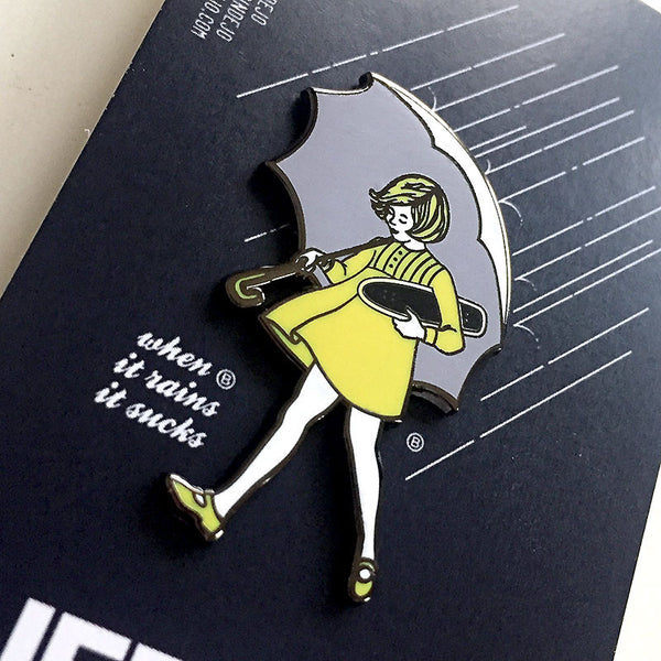 "Jeremy Wray ""Umbrella Girl"" Enamel Pin by Pindejo"