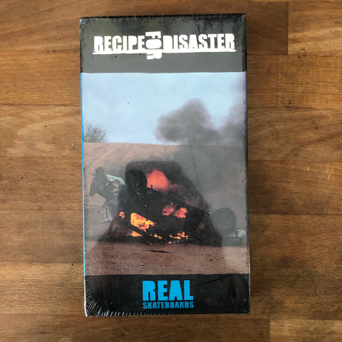 "Real Skateboards ""Recipe for Disaster VHS - NEW IN BOX"