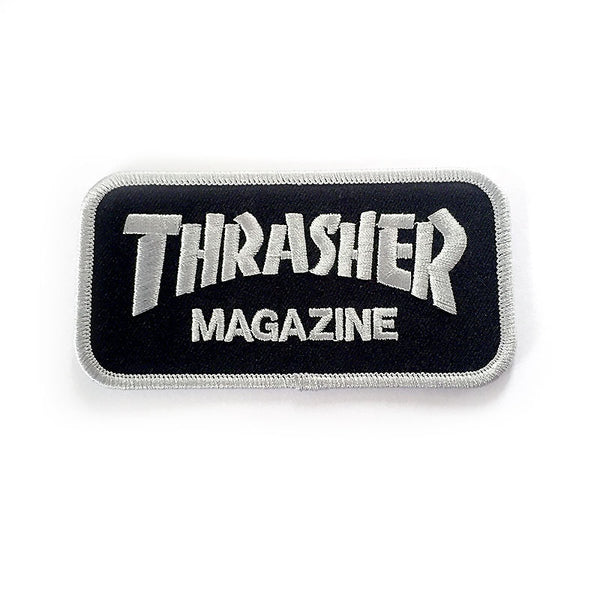 Thrasher Bar Logo Patch - Silver