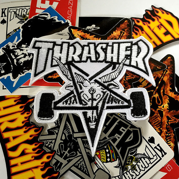 Thrasher Skategoat Patch - White
