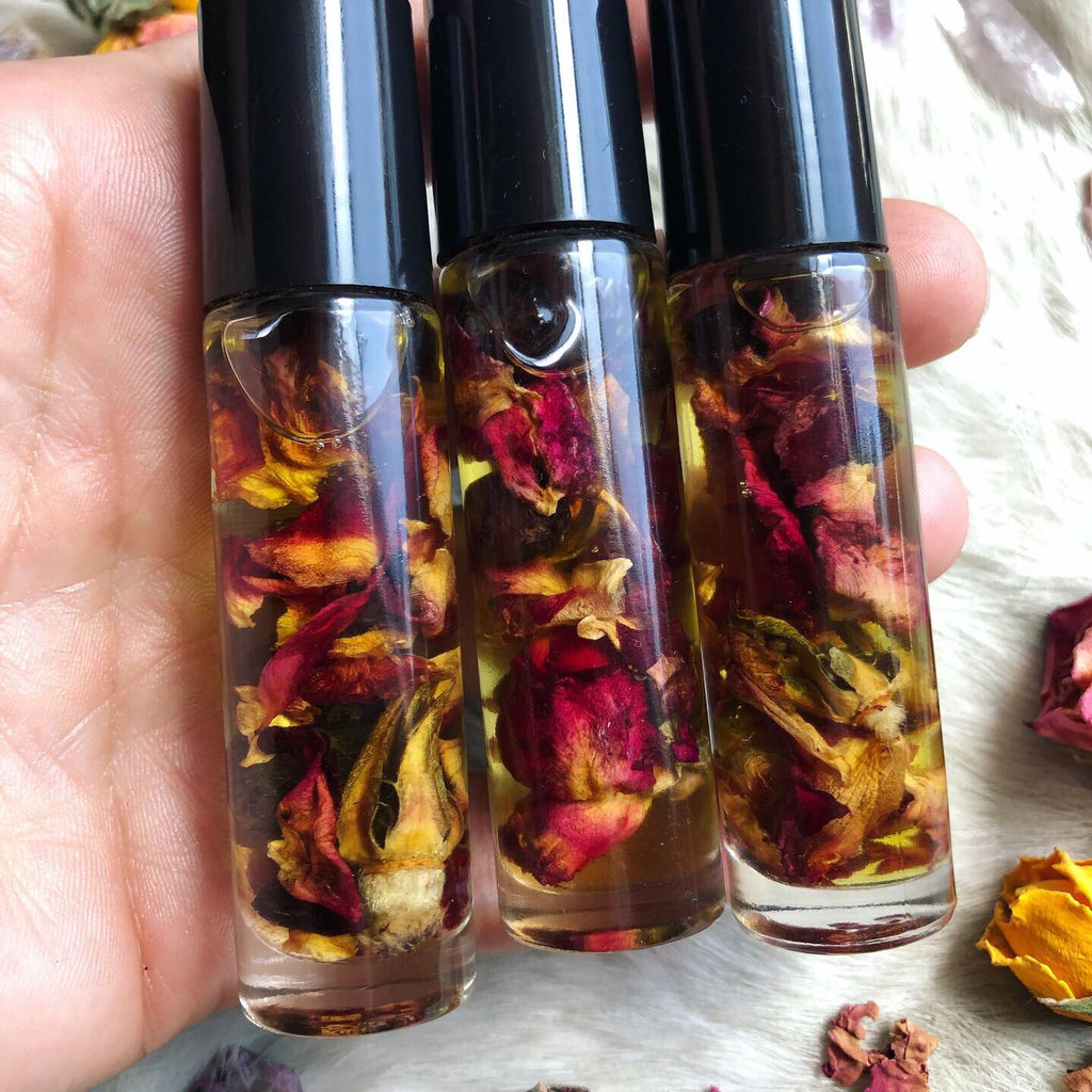 Lavender Rose Garnet Essential Oil Roller Ball Perfume
