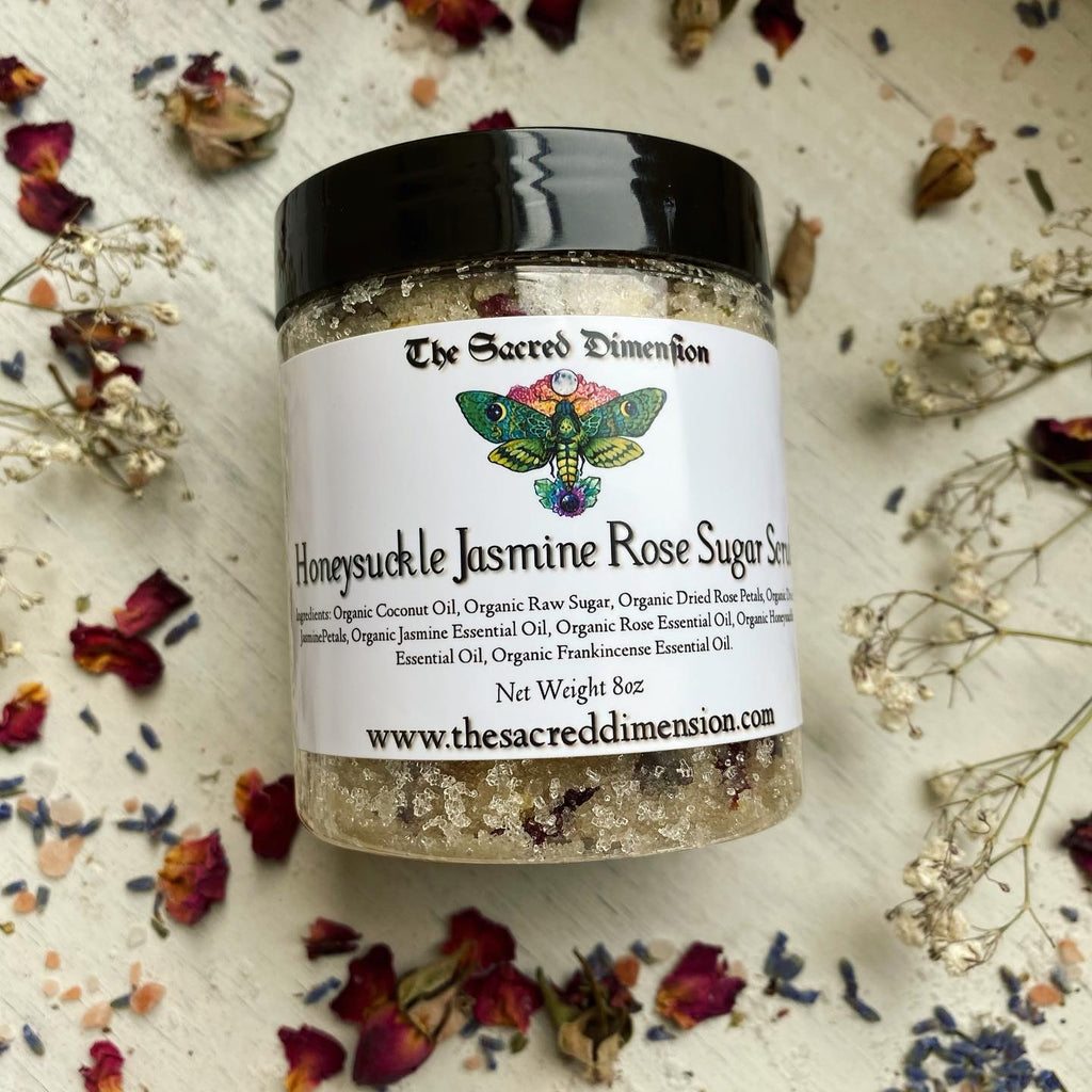Honeysuckle Jasmine Rose Sugar Scrub