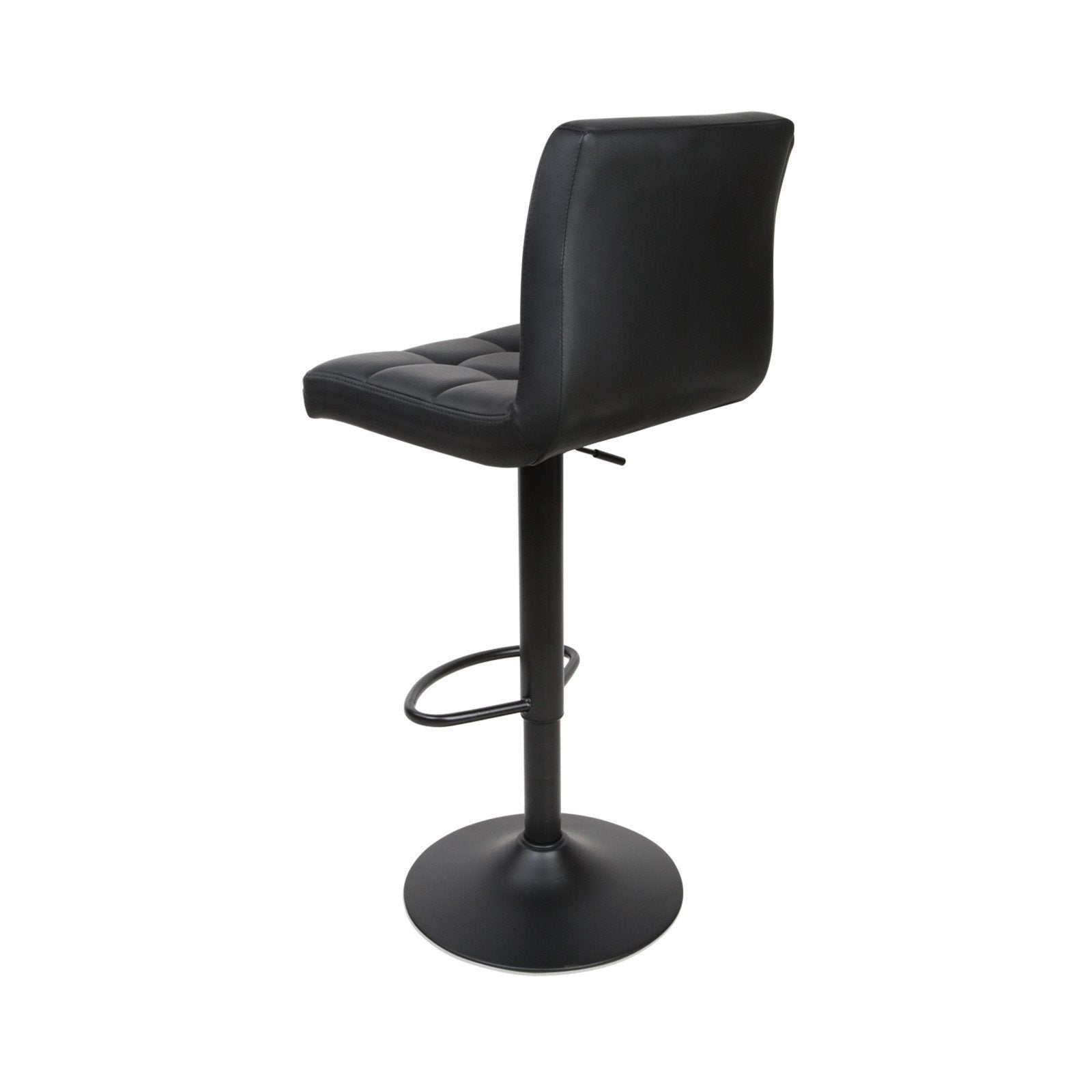 Larona leather bar stool set of 2 black