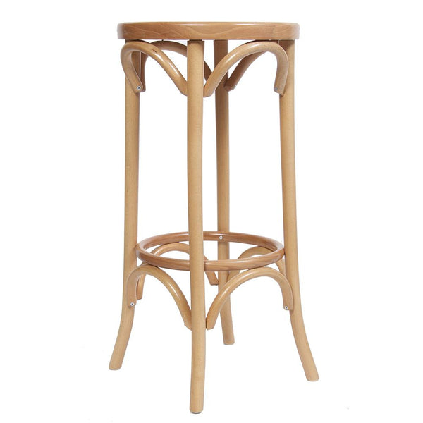 Brittany Wooden Leg Bar Stool Natural