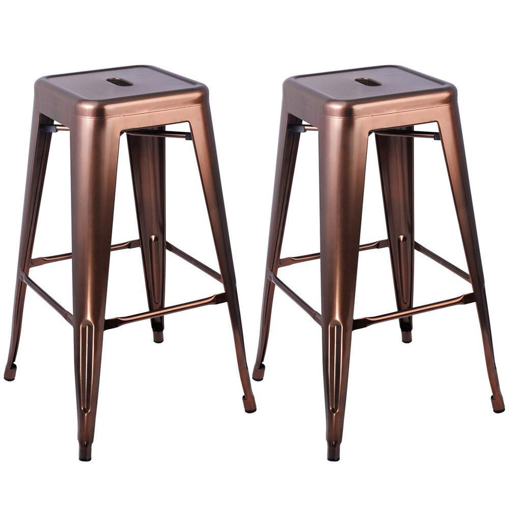 Tolix replica bar stool 76cm set of 2 bronze for About a stool replica