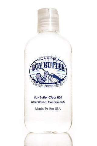 Boy Butter H2O Clear Bottle 4oz