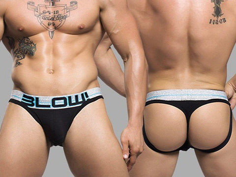 AC9677 BLOW SHOW-IT THONG (BLACK)