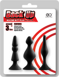 Back Up Silicone Butt Plug Set (Black)