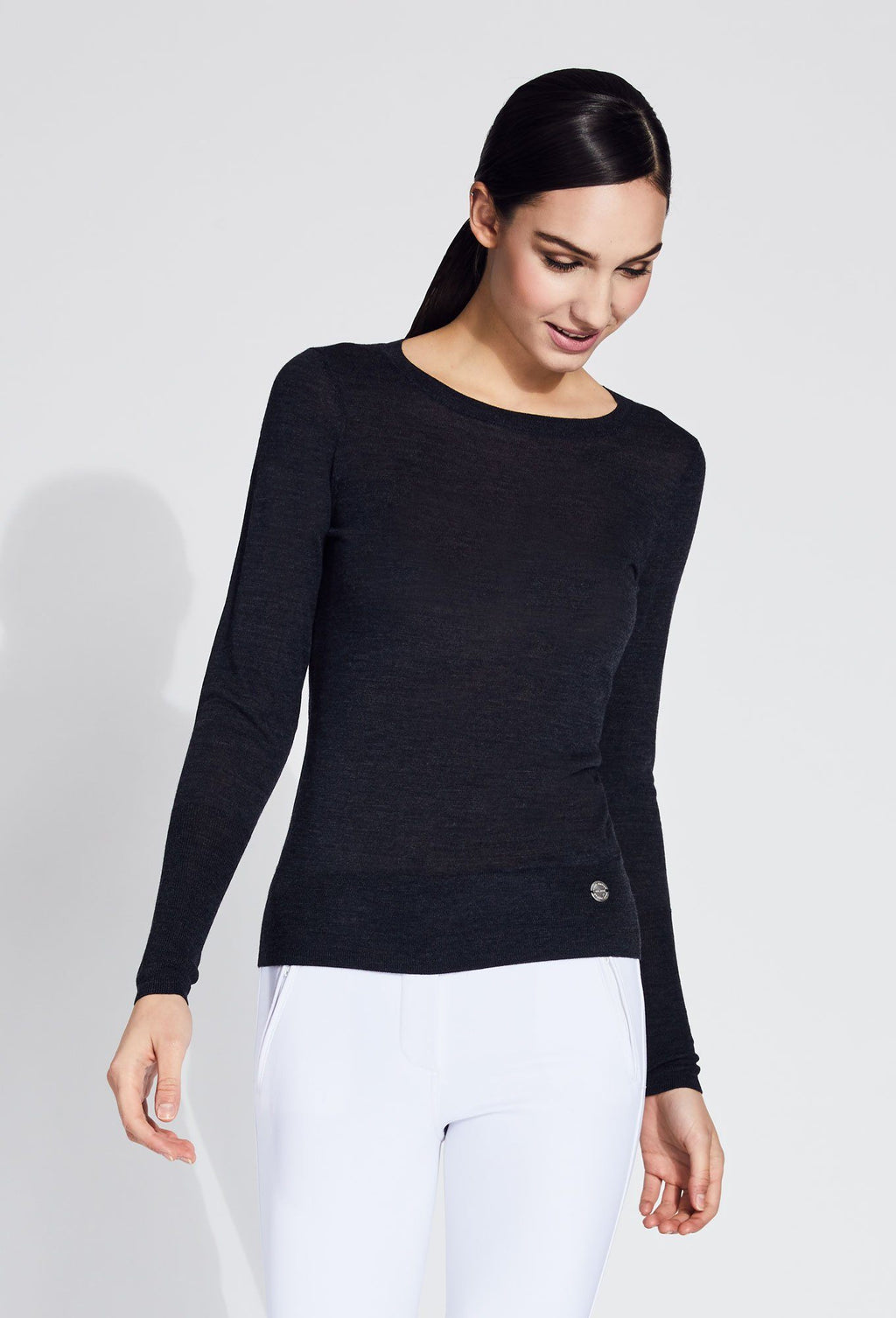 Ryanne Crew Neck Merino Sweater