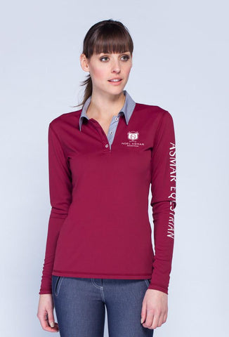 Classic Long Sleeve Polo Screen Logo