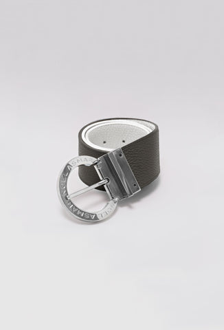 Signature Leather Belt (Gold Accents)