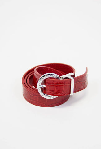 Demi Saffiano Belt (Chrome Accents)