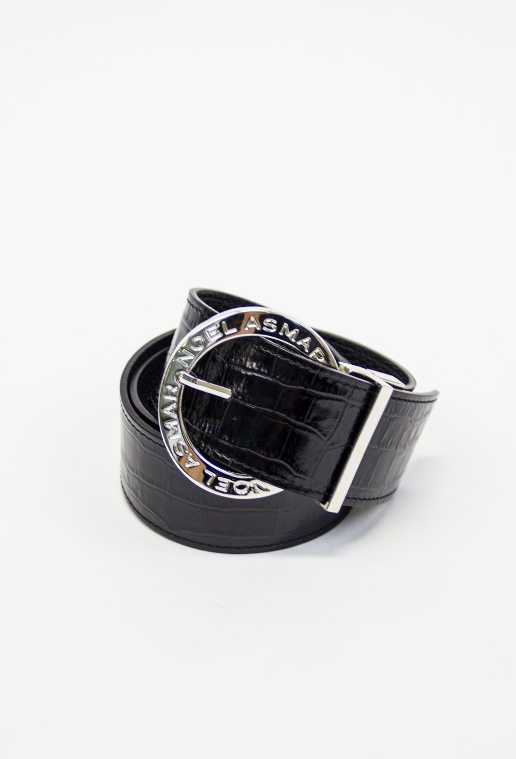 Asmar Leather Crocodile Belt (Chrome Accents)