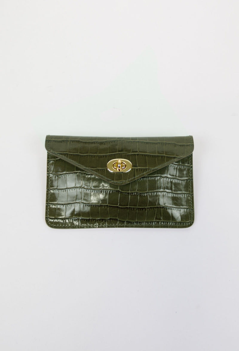 Asmar Crocodile Belt Purse (Gold Accents)