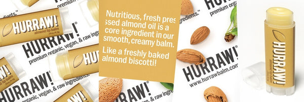 HURRAW! Almond Lip Balm