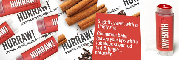 HURRAW! Tinted Cinnamon Lip Balm