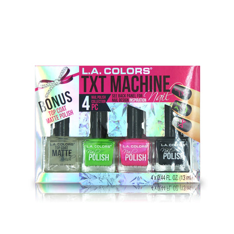 L.A. Colors 4pcs Nail Polish Collection - TXT Machine