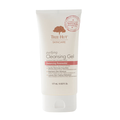 TREE HUT SKINCARE PURIFYING CLEANSING GEL BALANCING ROSEWATER