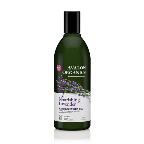 Avalon Organics Lavender Bath & Shower Gel 355ml