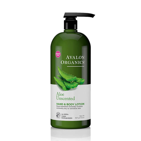 Avalon Organics Aloe Unscented Hand & Body Lotion 32oz
