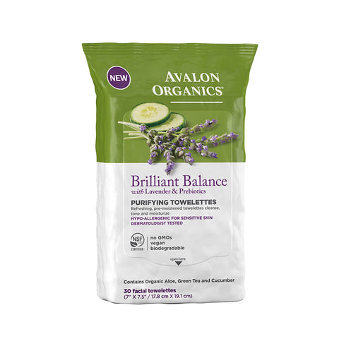 Avalon Organics Brilliant Balance Purifying Towelettes