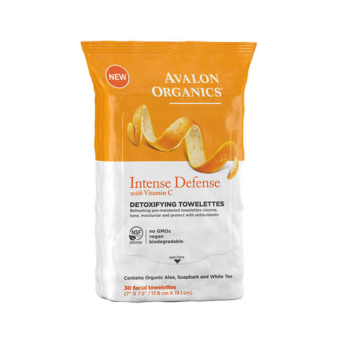 Avalon Organics Intense Defense Detoxifying Towelettes