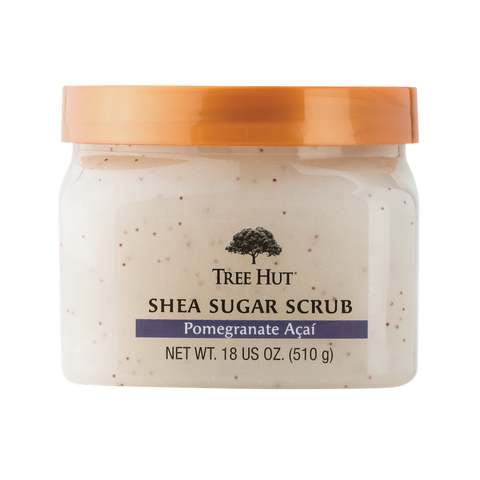 TREE HUT SHEA SUGAR SCRUB POMEGRANATE ACAI