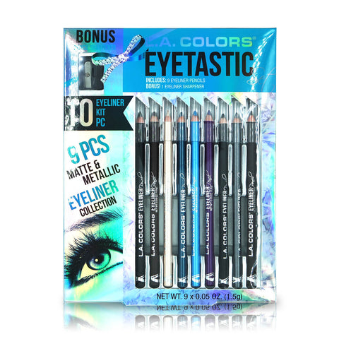 L.A. Colors Eyetastic 10pcs Eyeliner Kit