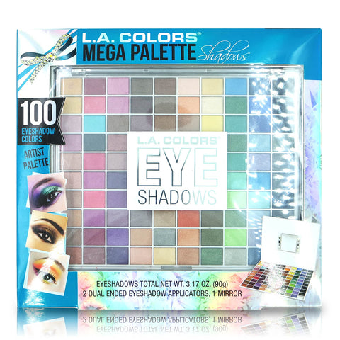 L.A. Colors Mega Palette 100-color Eyeshadow Palette Set
