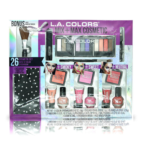 L.A. Colors Mix+Max Cosmetics w/12-color Eyeshadow Set