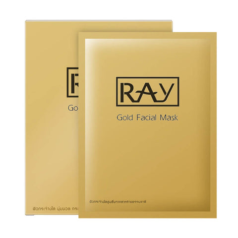 Ray Facial Mask (10 Piece)(Gold)