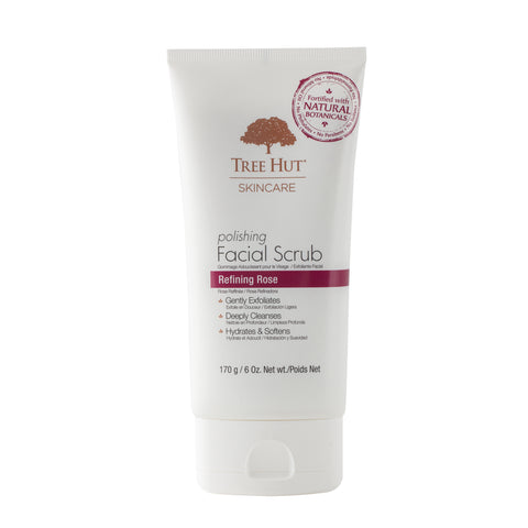 TREE HUT SKINCARE POLISHING FACIAL SCRUB REFINING ROSE